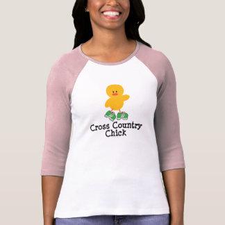 Camiseta del raglán del polluelo del campo a playera