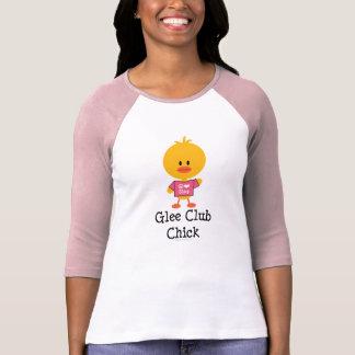 Camiseta del raglán del polluelo del club de playeras