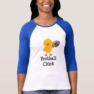 Camiseta del raglán del polluelo del fútbol
