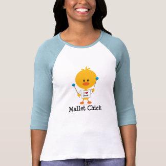 Camiseta del raglán del polluelo del mazo