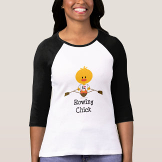 Camiseta del raglán del polluelo del Rowing