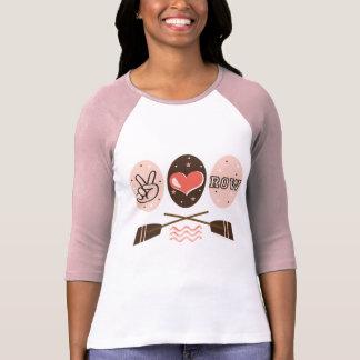 Camiseta del raglán del Rowing de la fila del amor