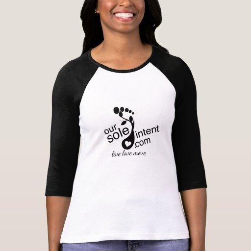camiseta del raglán nuestro único intento