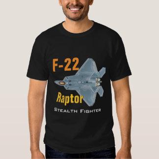 Camiseta del rapaz F-22 Playeras