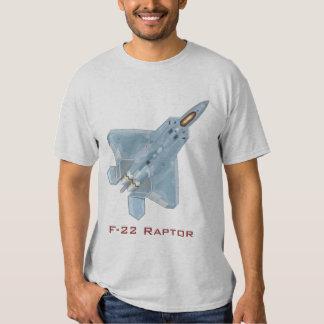 Camiseta del rapaz F-22 Poleras
