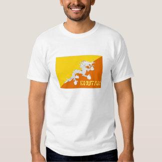 Camiseta del recuerdo de la bandera de Bhután Remeras