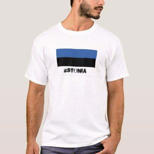 Camiseta del recuerdo de la bandera de Estonia