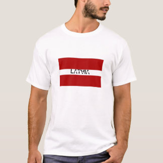 Camiseta del recuerdo de la bandera de Letonia