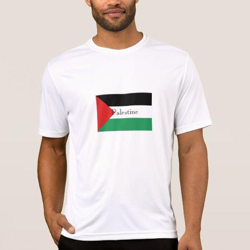 Camiseta del recuerdo de la bandera de Palestina