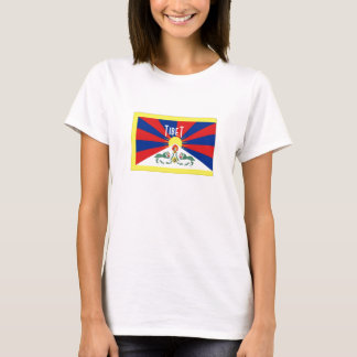 Camiseta del recuerdo de la bandera de Tíbet