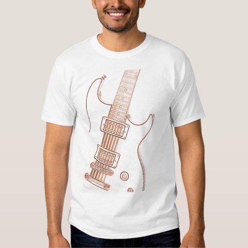 Camiseta del regalo de la imagen de la guitarra playeras