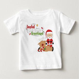 Camiseta del reno de Santa de los saludos del