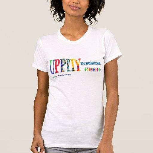 """Camiseta del """"© republicano Uppity"""" de las mujeres"""