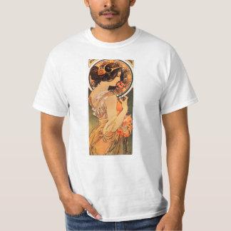 Camiseta del resbalón de la vaca de Alfonso Mucha Camisas