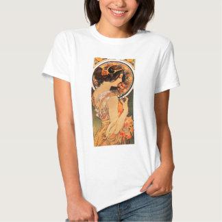 Camiseta del resbalón de la vaca de Alfonso Mucha Poleras