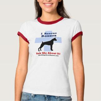 Camiseta del rescate del boxeador