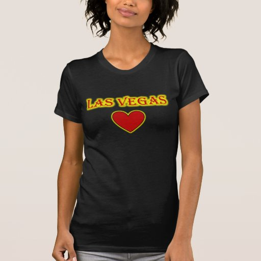 Camiseta del resplandor del corazón de Las Vegas Remeras