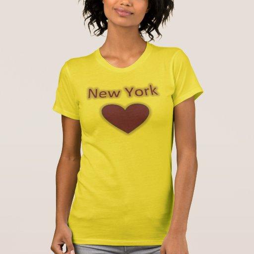 Camiseta del resplandor del corazón de Nueva York
