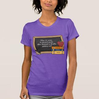 Camiseta del retiro de la pizarra del profesor