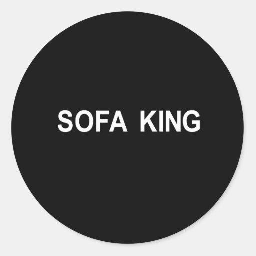 camiseta del rey del sofá pegatina redonda