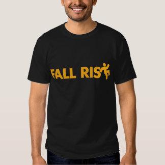 Camiseta del riesgo de la caída playera