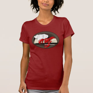 Camiseta del rojo de las señoras de la plantilla