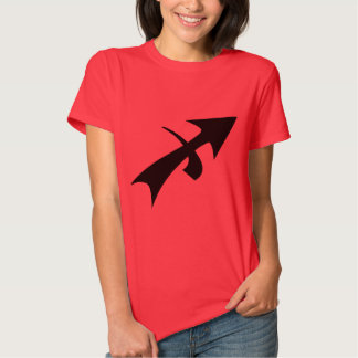 Camiseta del rojo de las señoras del sagitario camisas