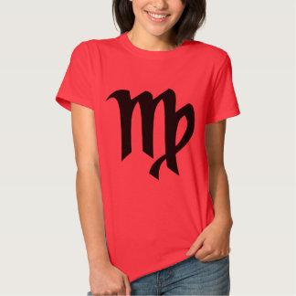 Camiseta del rojo de las señoras del virgo
