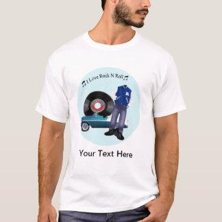 camiseta del rollo de la roca N del amor de los