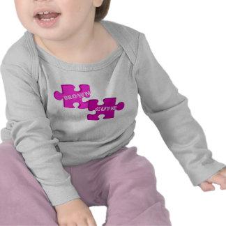 Camiseta del rompecabezas de Brown Cutie