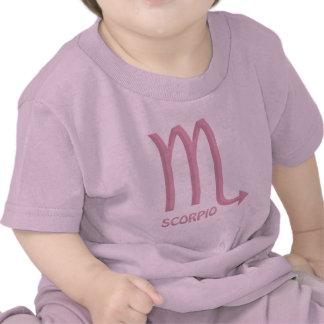Camiseta del rosa de la niña del símbolo del zodia