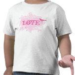 Camiseta del rosa del caramelo de algodón del amor