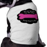 Camiseta del rosa del mascota de los profesores camisetas mascota