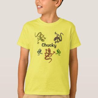 Camiseta del Salamander de Chucky - diseño echado Playeras