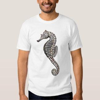 Camiseta del Seahorse de la cebra del arrecife de Playera