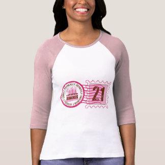 Camiseta del sello 21 del cumpleaños