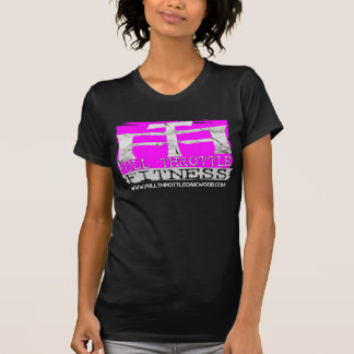 Camiseta del sello del rosa de la aptitud de la