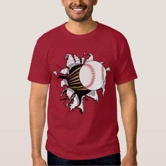 Camiseta del separador del béisbol playera