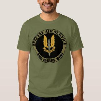 Camiseta del servicio aéreo especial playeras