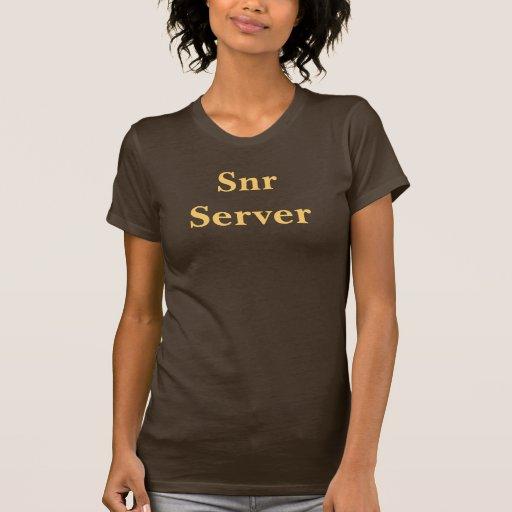 Camiseta del servidor de Snr del café. Brown y moc