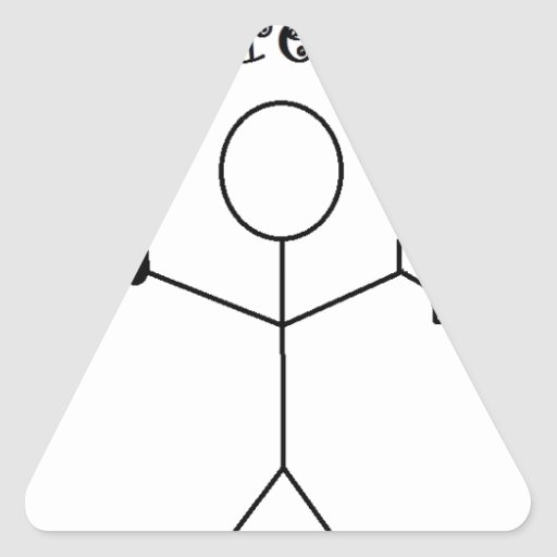 camiseta del shartfree pegatina triangular
