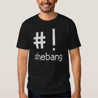 Camiseta del Shebang - ningún logotipo Remeras