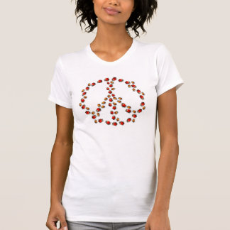 Camiseta del signo de la paz de la mariquita