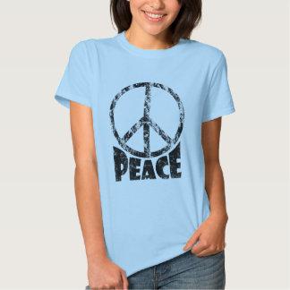 Camiseta del signo de la paz para las mujeres poleras