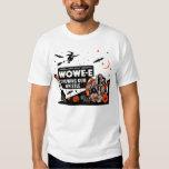 Camiseta del silbido de Halloween Wowe-e Poleras