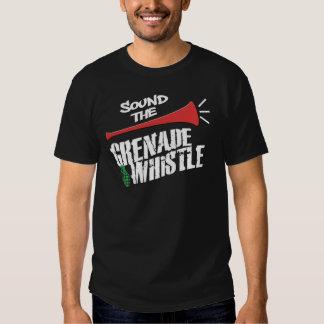 Camiseta del silbido de la granada playeras