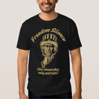 Camiseta del silencio de la libertad playeras