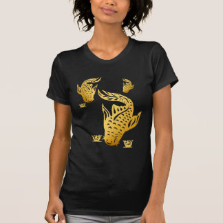 Camiseta del siluro del oro tres