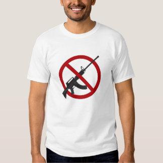 Camiseta del símbolo de la prohibición del arma playeras