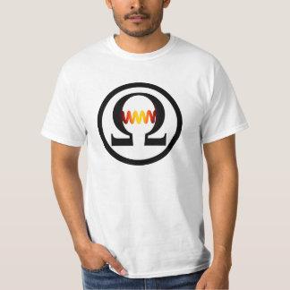 Camiseta del símbolo del ohmio playera